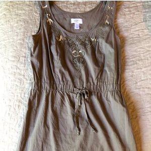 Ann Taylor LOFT 100% cotton shift dress size S 4P
